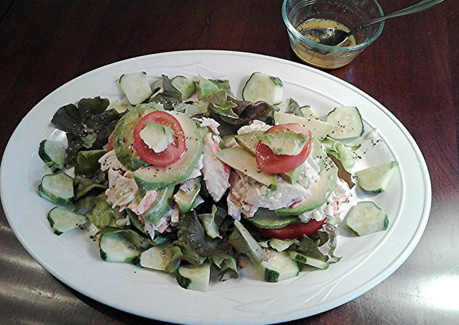 Avocado and Crab Stacked Salad
