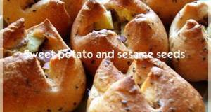 Chunky Sweet Potato and Black Sesame Mini Rolls