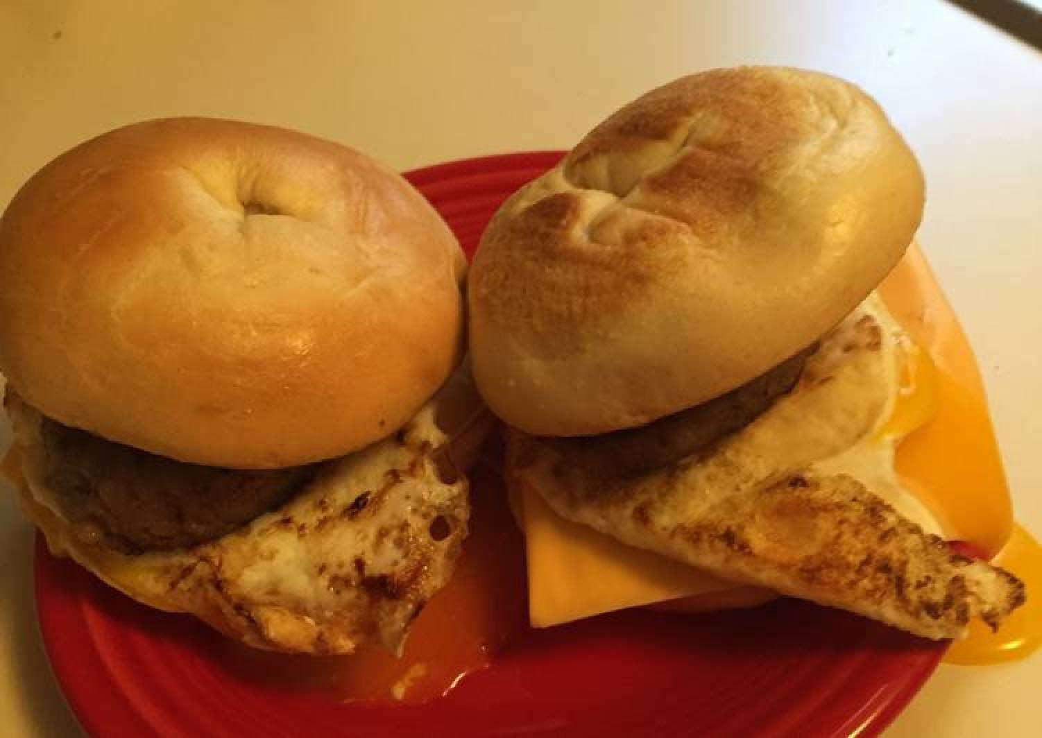 Sausage,egg And Cheese Bagels