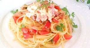 Asian-Style Chilled Pasta with Crab Mayonnaise Salad
