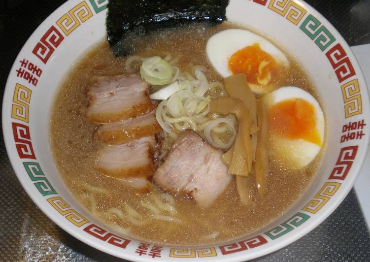 Homemade Tonkotsu Ramen Broth and Noodles from Scratch