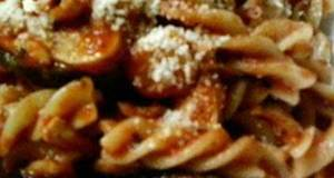 Chicken and Eggplant Tomato Sauce Pasta