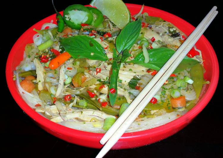 Mike's Spicy Thai Chicken Rice Noodle Soup