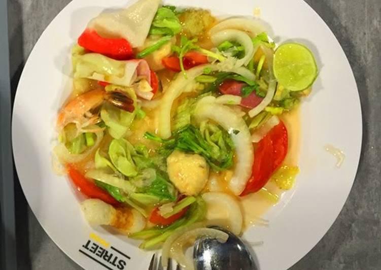 Thai Calamari Salad with Vermicelli