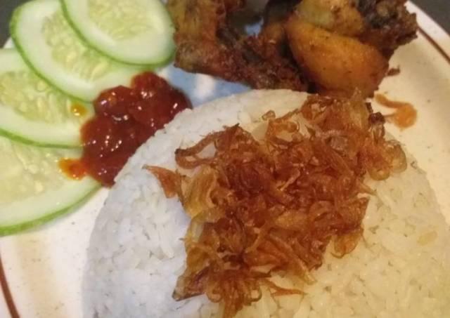 Nasi Uduk Betawi Rice Cooker praktis,anti gagal dan enak