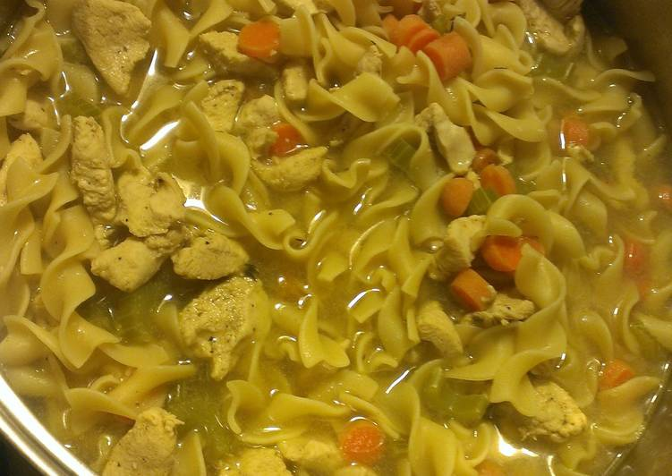 Simple Way to Make Any-night-of-the-week Chicken noodle soup