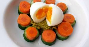 Mash Pea With Egg Salad