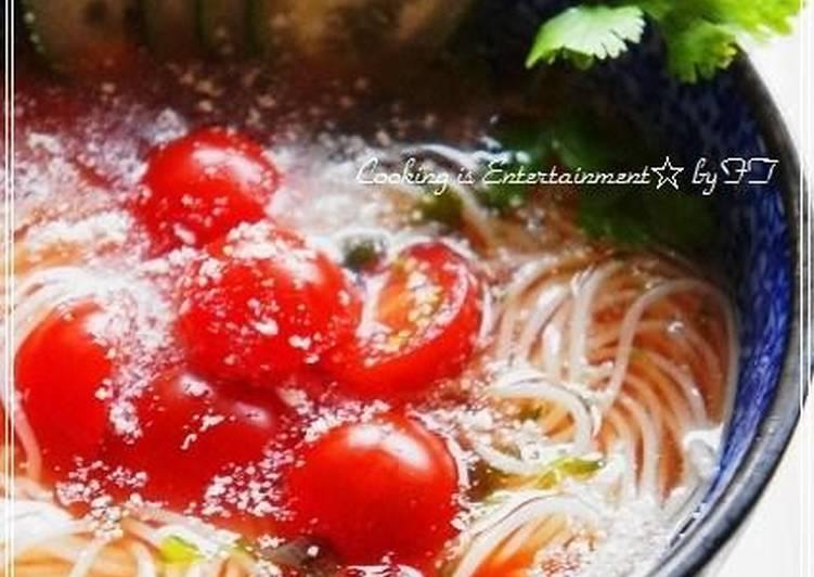 Sunny Tomato Somen Noodle Soup