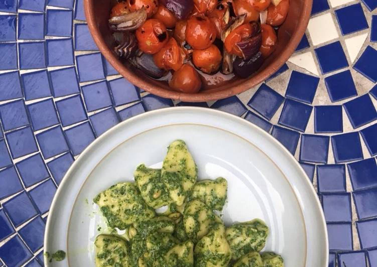 Gnocchi with basil pesto