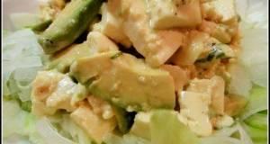 Tofu and Avocado Salad with Fragrant Basil Dressing