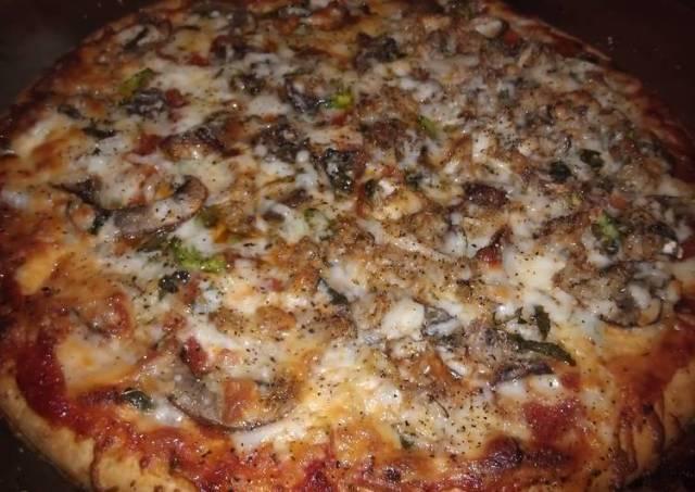 Quick Jazzy Crab & Mushroom Pizza