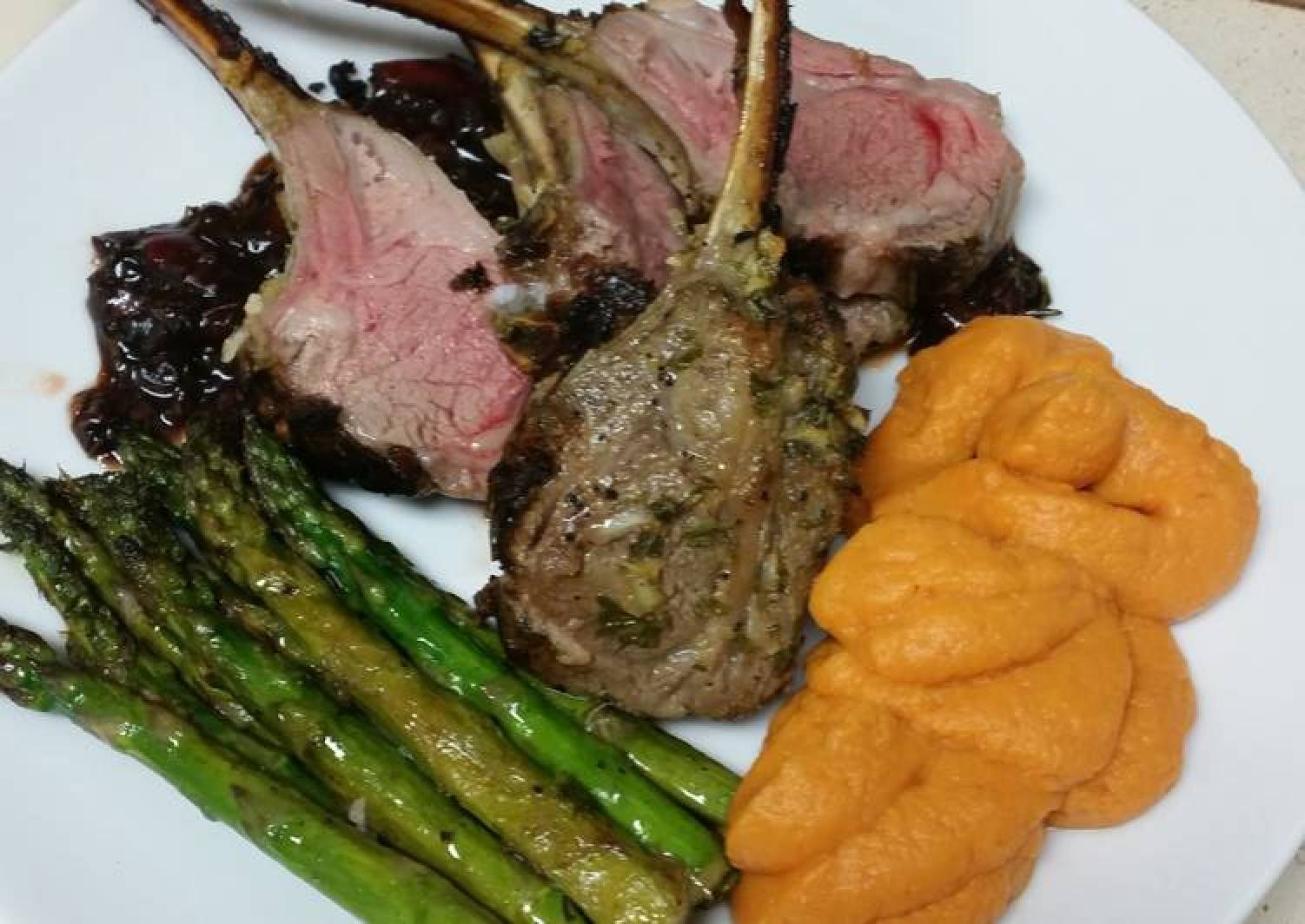 Rack of Lamb with cherry balsamic sauce