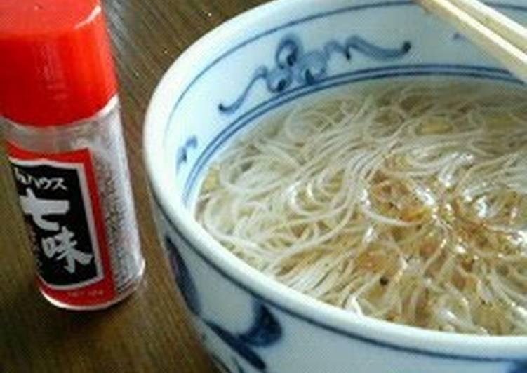 Nyuumen Somen noodle soup