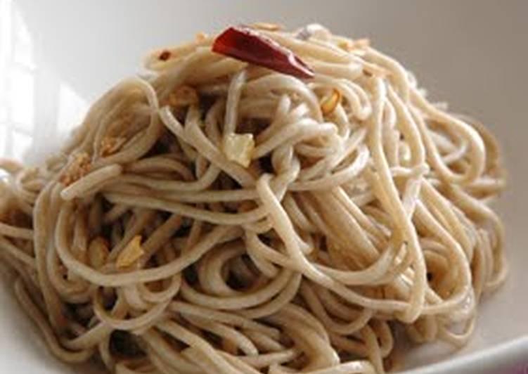 Soba Noodle Aglio Olio e Peperoncino