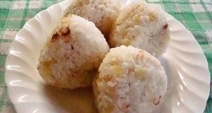 Onigiri Rice Balls with Takuan and Mayonnaise