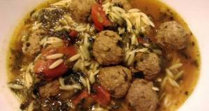 Quick Meatball and Orzo Soup