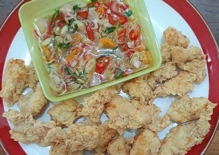 Ayam Goreng Tepung & Sambal Matah