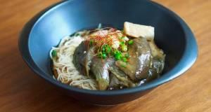 NASU SOMEN Simmered Eggplant and SOMEN noodle