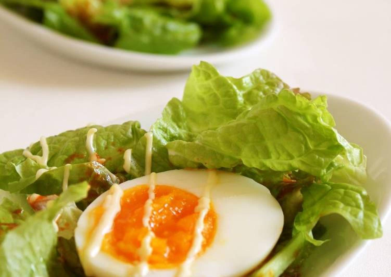 Salad with Gochujang Sauce and Mayonnaise