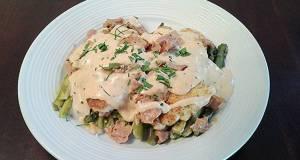 Chicken with Asparagus Ham and Bearnaise Sauce