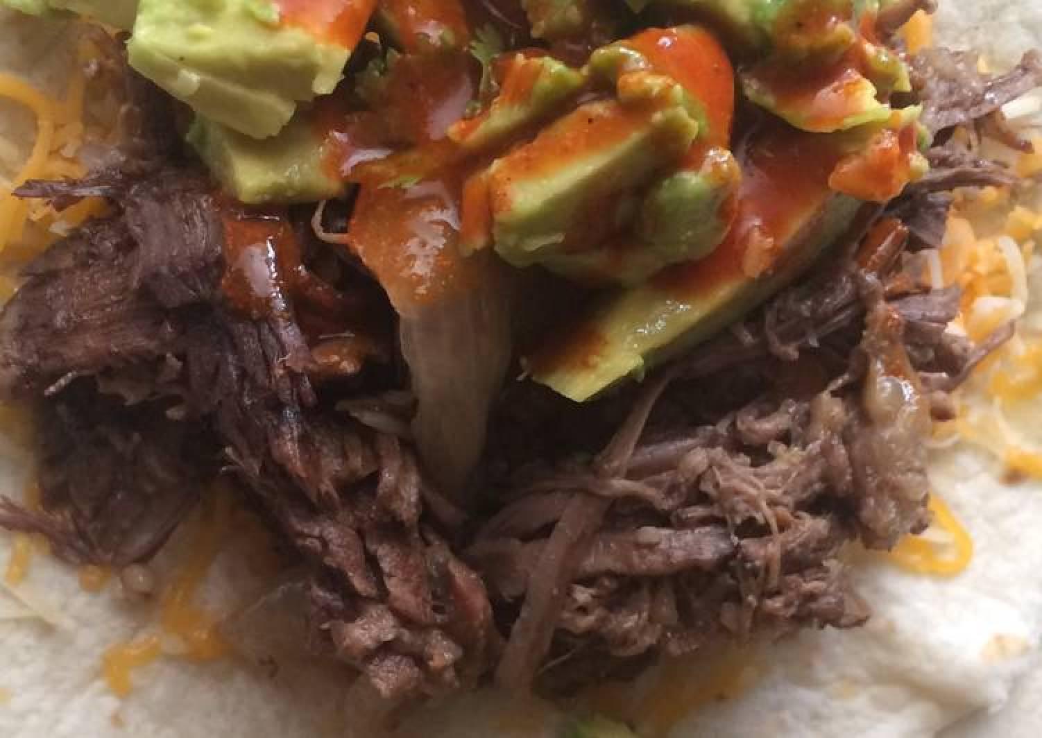 California Shredded Beef And Cheese Burritos