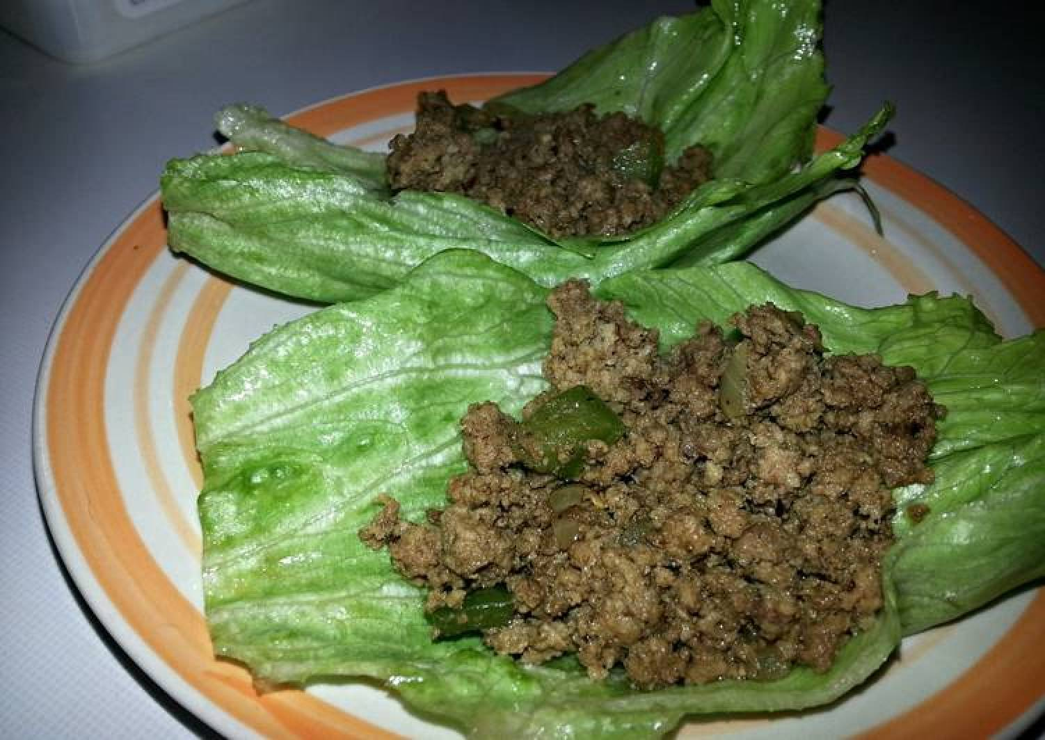 Spicy Beef Curry lettuce wraps