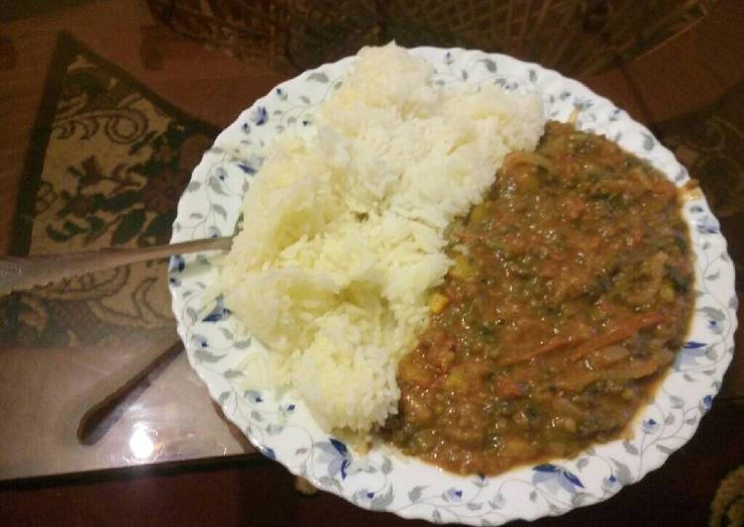 Margarine Rice & Spicy Green Grams (Ndengu)