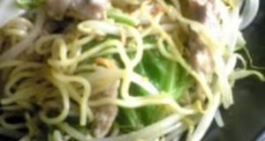Salt-flavored Yakisoba Noodles with Yuzu Pepper Paste