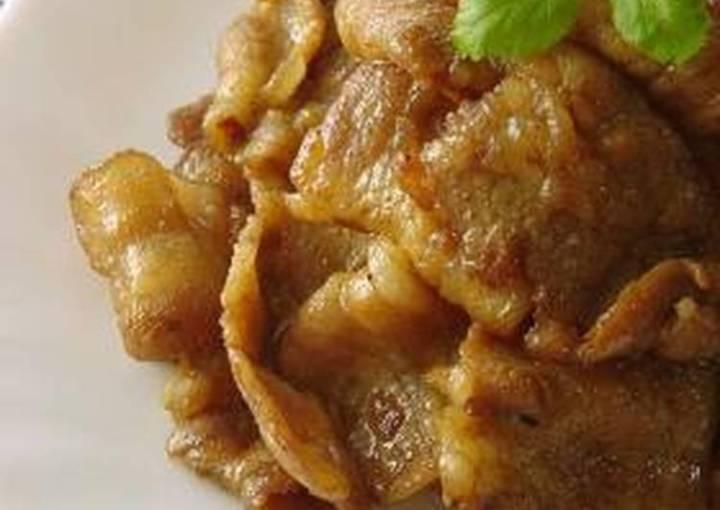Curry Teriyaki Pork Belly