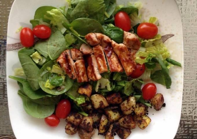 BBQ Pork Chop salad