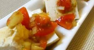 Easy Tofu with Tomatoes and Sesame Oil
