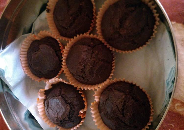 coffee-hazelnut whole wheat muffin