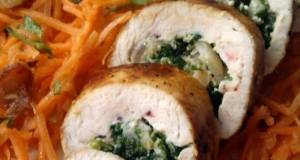Vickys Spinach  Mushroom Stuffed Chicken Rolls GF DF EF SF NF
