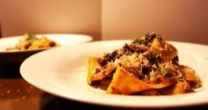 Simple Homemade Pasta Pappardelle with Ragu Sauce