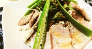 Boiled Pork and Okra Chilled Salad