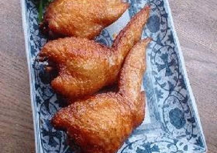 Chicken Wing Gyoza with chicken de-boning instructions