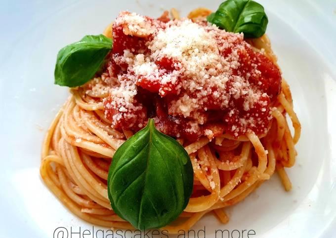 Der einfache Weg Um Superschnelle Hausgemachte Spaghetti alla Amatricciana zu machen