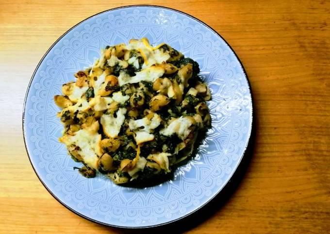 Rezept Um Superschnelle Hausgemachte Käse-Spinat Pasta 😊 zuzubereiten