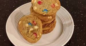 Red White and Blue Chocolate Chip Cookies