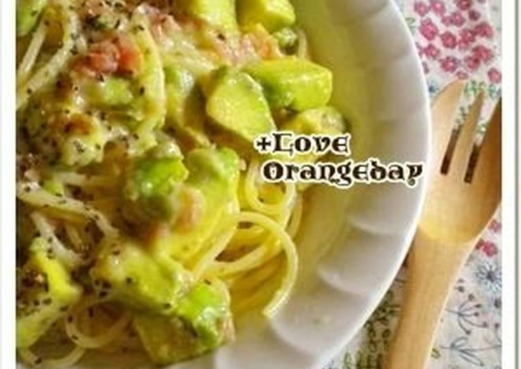 Avocado Cream Pasta with Umeboshi Pickled Plums