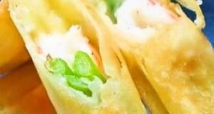 Easy Shrimp and Asparagus Salad Spring Rolls