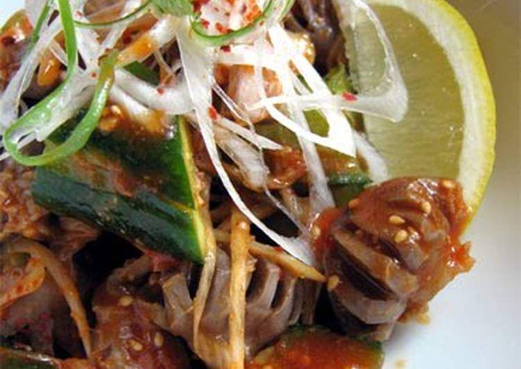 Chicken Gizzards with Cucumber Namul-style