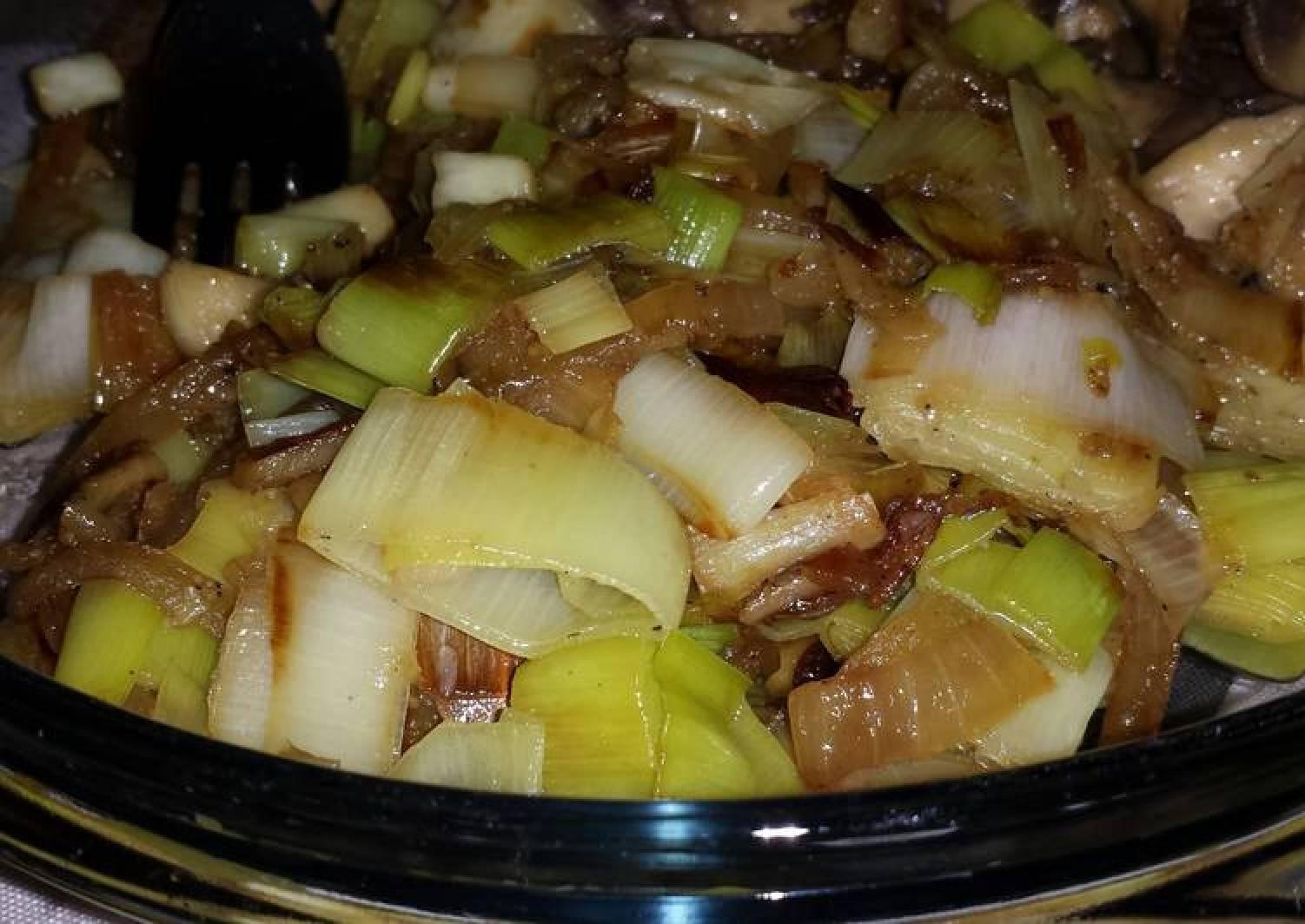 Fried Leek and Onion