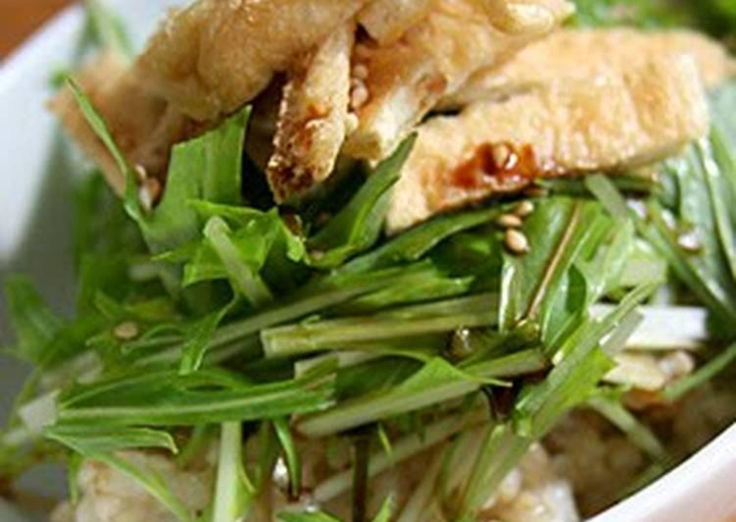 A Beginner's Macrobiotic Dish, Mizuna on Brown Rice