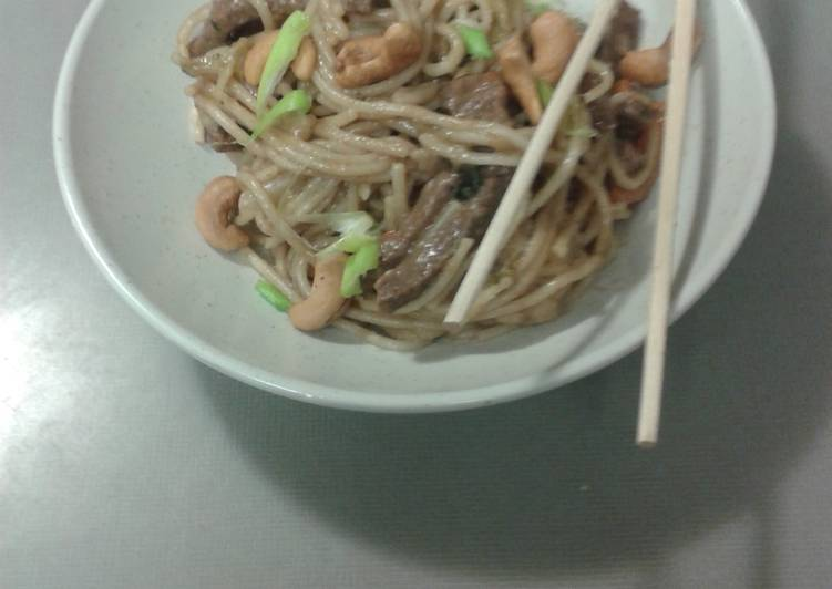Asian Beef Noodle Stirfry