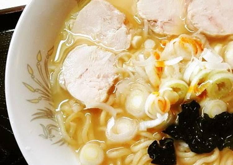 Chicken Ham and Ra-yu Salt Ramen