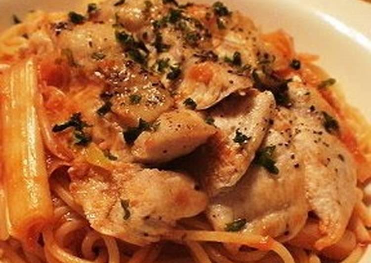 Leek and Chicken Tomato Pasta