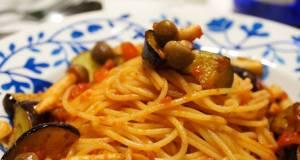 Pasta with Eggplant and Tomato Sauce