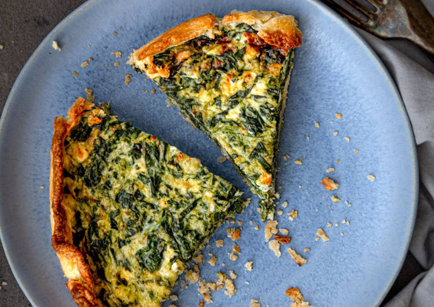 Feta & Spinach Quiche