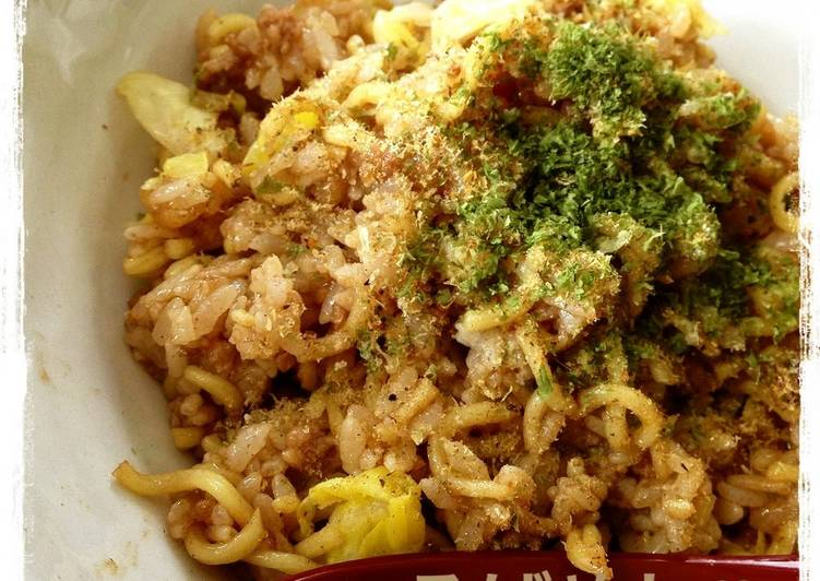 Sobameshi - Yakisoba Noodles and Rice